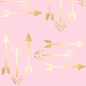 Metallic Arrow on Pink