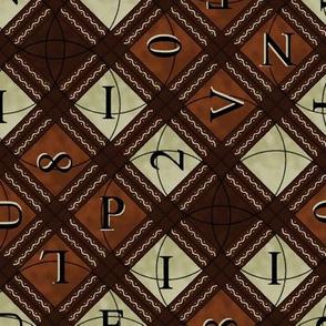 Brown Alphabet