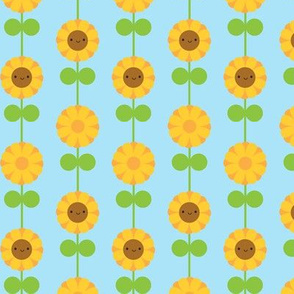 Kawaii Sunflower Stripe (Blue)
