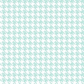 Houndstooth Mint White