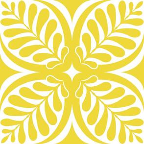 Fern Block Yellow