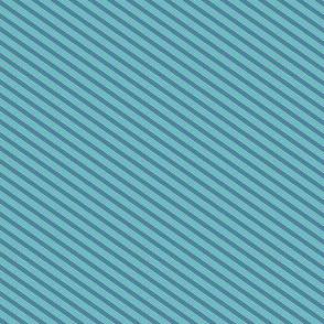 Turquoise and Tangerine Narrow Stripe
