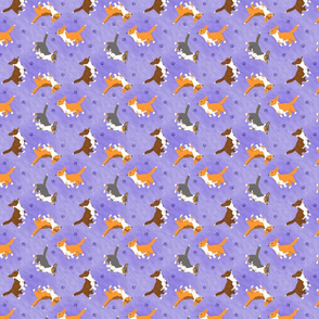 Tiny Cardigans - purple