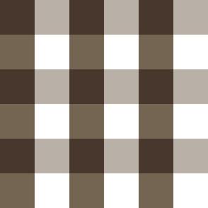 Gingham ~ Chocolat, Rocaille, Penistone Crag and White ~ medium