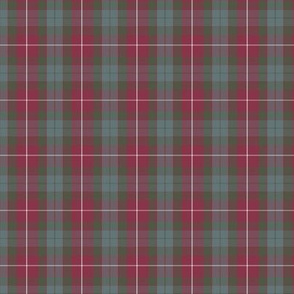 """Fraser red hunting tartan, 3"""" weathered (1/2 scale)"""