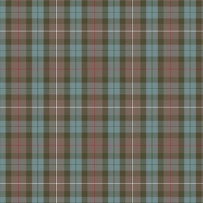 1/2 scale Fraser weathered hunting tartan, 3""
