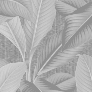 Palm In Palm ~ Grey on Grey Linen Luxe