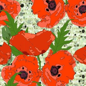 Poppies on music