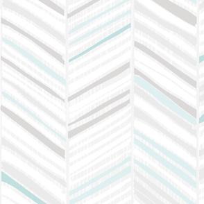 Herringbone Hues of M+M Aqua by Friztin
