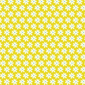 Daisy Chain - Floral Citron Yellow