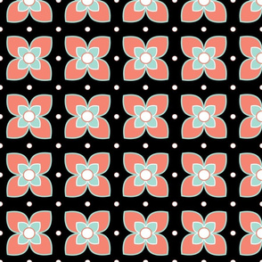 Spoonflower Coral and Mint