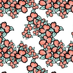 018 minty coral flowers