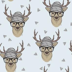 Grey Hipster Deer