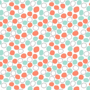 geometric blobs - coral