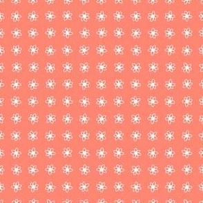 Coral Daisy Dots