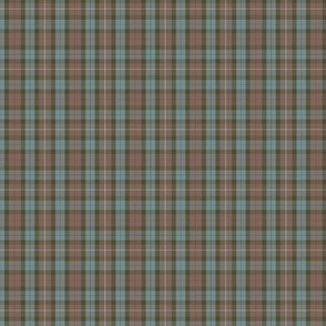"""Fraser  hunting tartan, 3"""" weathered (1/2 scale)"""