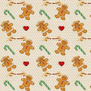 Gingerbread Man  and Woman Ivory