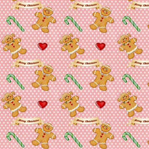 Gingerbread Man  and Woman Pink