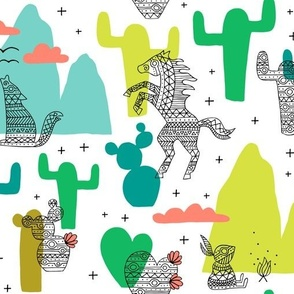 Llama Wallpaper Llamas In The Desert Turquoise By Heleen Vd Thillart Custom Printed Removable Self Adhesive Wallpaper Roll by Spoonflower