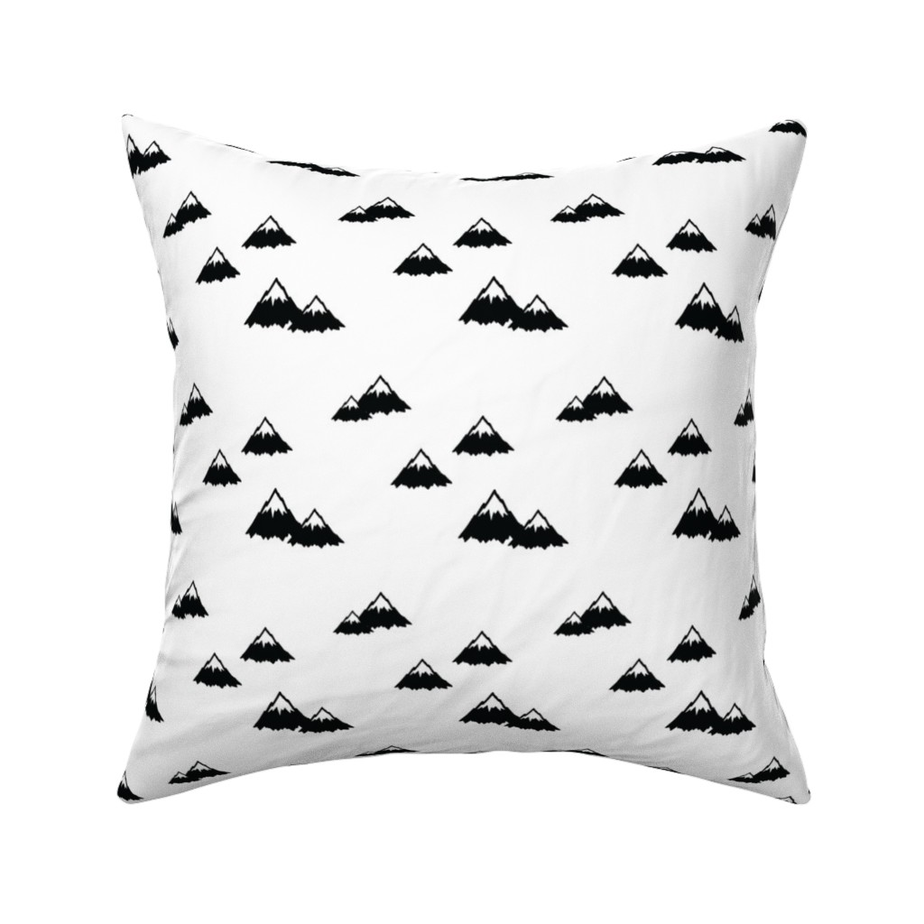 Catalan Throw Pillow featuring Mountains by littlearrowdesign