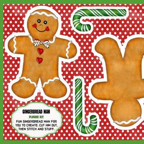 Gingerbread Man Plushie Kit