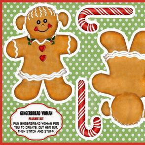 Gingerbread Man Woman Plushie Kit