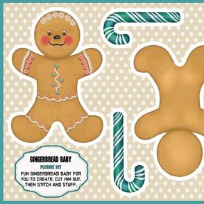 Gingerbread Man Baby Plushie Kit