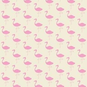 Pink Flamingo - Allover on cream