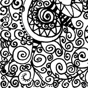 Black and White Hand Drawn Doodles