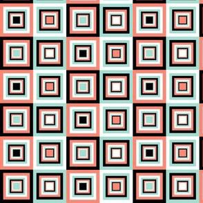 coral mint squares