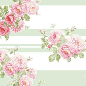 MAY DAY Summer Roses Wreath basil
