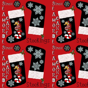"""""""Simon"""" snowflake stockings"""