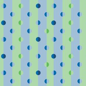polka dot stripes in blue-green
