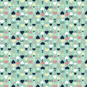 Love Anchor Infinity Mint Multi