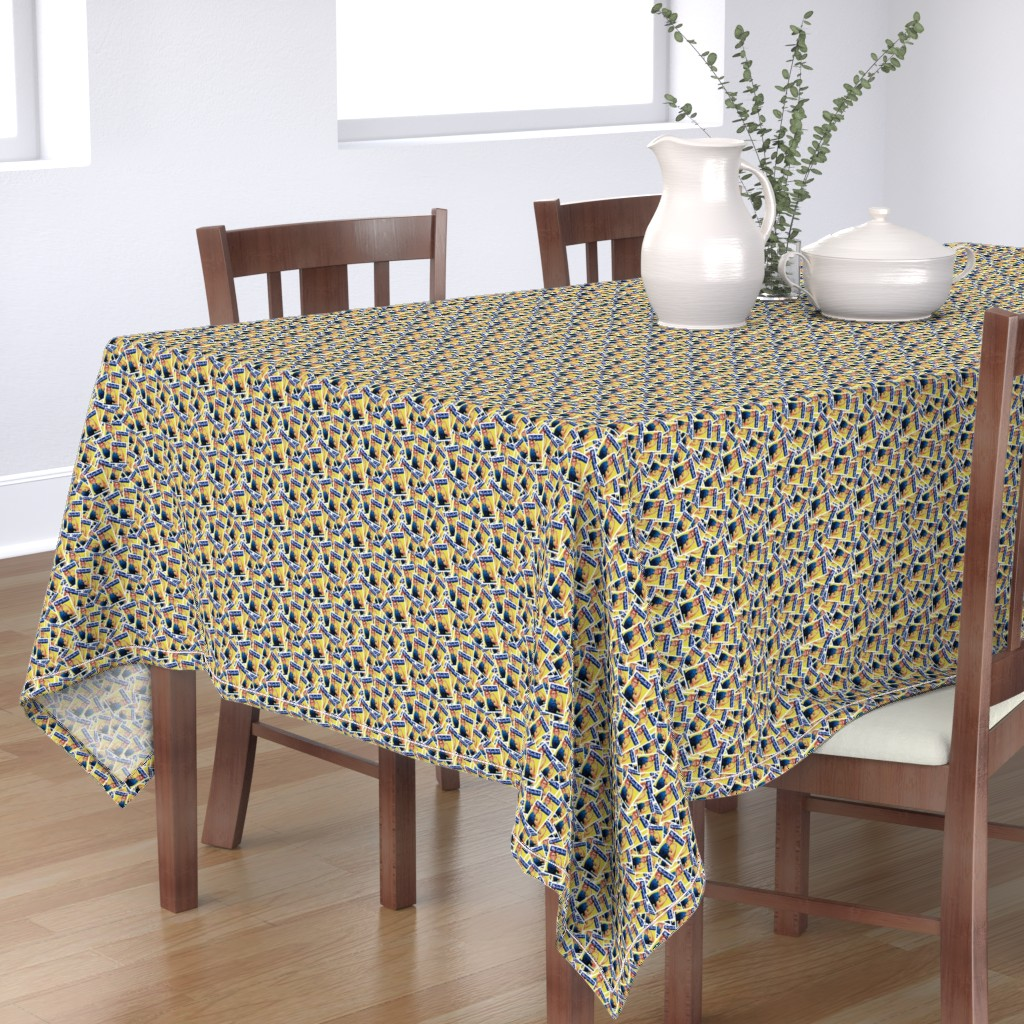 Bantam Rectangular Tablecloth featuring Rosie the Riveter - Tiny by spacefem