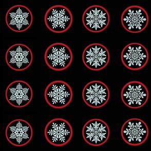 Snowflake jam jar lid covers