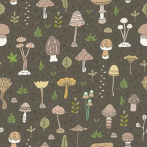 mushroom pattern. autumn fall season.