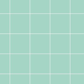 mint grid on white | pencilmeinstationery.com