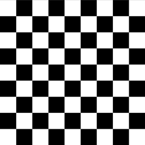 2 inch black and white checks