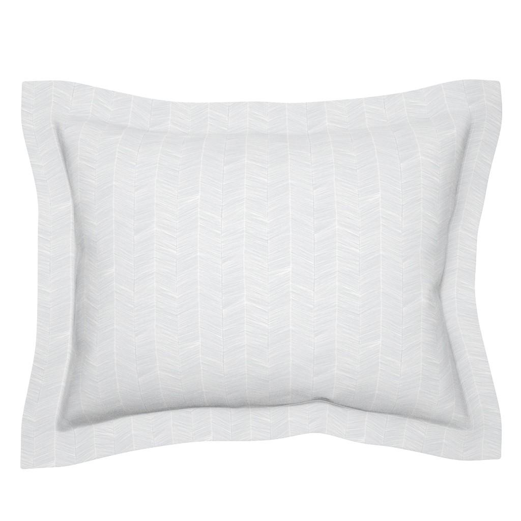 Sebright Pillow Sham featuring Herringbone - Gray by papercanoefabricshop