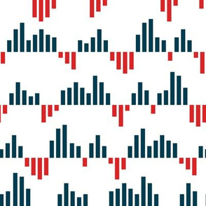 bar chart - blue and red