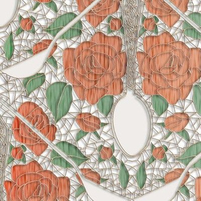 Spoon Damask on Lace 2