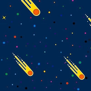Meteorites rain