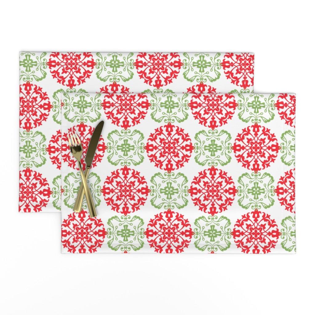 Lamona Cloth Placemats featuring Christmas Ball by hauteideas