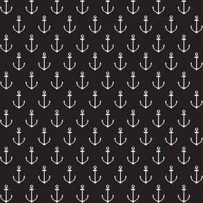 Nautical Anchor - Black