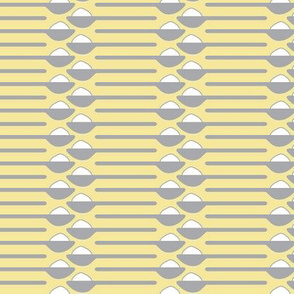 Spoonfuls of Sugar Stripe gray and yellow