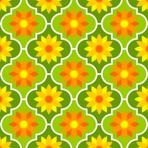 04029486 : crombus flower : orange on green