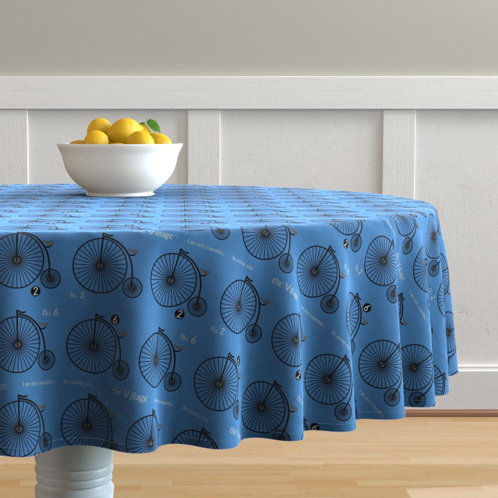 Malay Round Tablecloth featuring I am Not a Number. by studiofibonacci