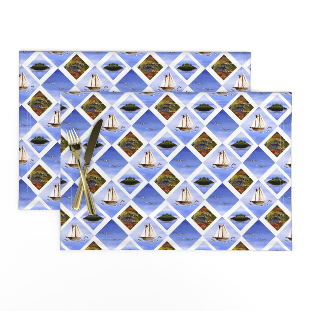 Lamona Cloth Placemats featuring Ocean Dreams 2 by brandymiller