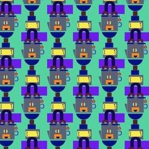 Happy Samovar Stripe on Jadeite